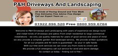 P and H Driveways And Landscaping